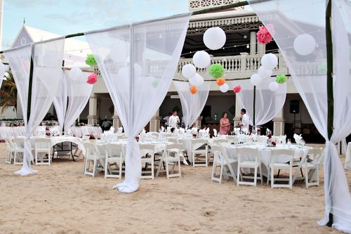 Riu Beach Reception Tent